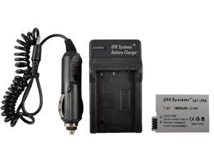 GPK Systems Battery & Charger for Canon EOS Rebel T2i T3i T4i 550d 600d Kiss X4 X5 Digital SLR Camera 1800mah Li-ion Rechargeable ...