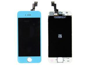 LCD Assembly Digitizer Touch Panel Glass Screen With LCD Display + Flex Cable + Supporting Frame Bezel + Home Button Front ...