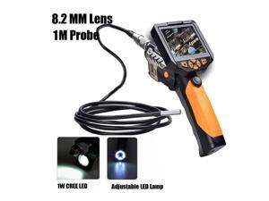 NTS200 Digital Endoscope 8.2mm Waterproof Inspection Camera 1M Probe Cable 3.5 Inch LCD
