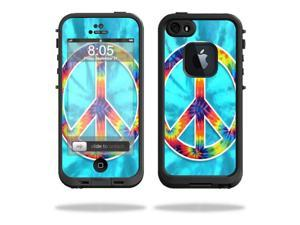 Mightyskins Protective Vinyl Skin Decal Cover for LifeProof iPhone 5 / 5S Case fre Case wrap sticker skins Peace Out
