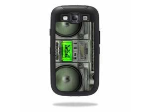Mightyskins Protective Vinyl Skin Decal Cover for OtterBox Defender Samsung Galaxy S III S3 Case wrap sticker skins Boombox