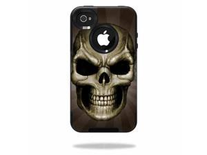 MightySkins Protective Vinyl Skin Decal Cover for OtterBox Commuter iPhone 4 Case Sticker Skins Skeletor