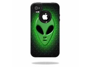 Mightyskins Protective Vinyl Skin Decal Cover for OtterBox Commuter iPhone 4 Case Cell Phone wrap sticker skins Alien Invasion