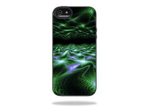 MightySkins Protective Vinyl Skin Decal Cover for Belkin Grip Candy Sheer iPhone 5-5S Case Sticker Skins Green Waves
