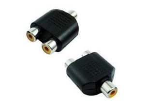 RCA Video Audio Splitter Adapter (RCA Female to 2 RCA Female)   PACKET OF 6