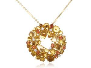 Shanghai 18K Yellow Gold Diamond and Citrine Pendant Necklace