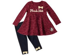 FSU Florida State University Long Sleeve Dress and Leggings Infant Set