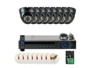 GW 8 Channel Real Time D1 DVR Kit (2TB HDD) with 8x Water Proof 700 TVL Security Camera System, HDMI & VGA Video Output CCTV ...