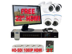 GW HD-SDI 4 Channel Real Time DVR (2TB HDD) 1080P View 720P Recording, 1.3 Megapixel 2.8~12mm Varifocal Lens CCTV Surveillance ...