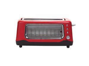 Dash Clearview Toaster -  Color Red