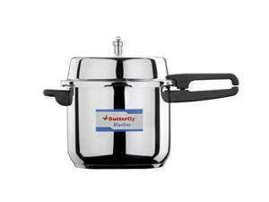 Butterfly Blue Line Stainless Steel Pressure Cooker, 10-Liter