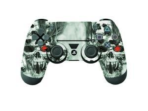 Removable Protective Skin Sticker Decal for Sony PlayStation 4 PS4 Remote Controller - Skull