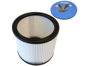 HQRP H12 Washable and reusable Cartridge Filter fits Shop-Vac 903-04-00 / 903-04 / 90304 (Type U) Wet / Dry Vacuum plus HQRP ...