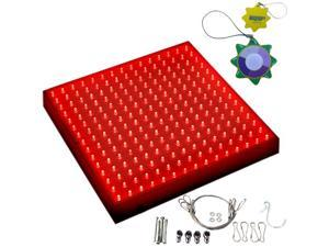 HQRP 225 Red LED Indoor Garden Hydroponic Plant Grow Light Panel 14W 12V + Hanging Kit plus HQRP UV Meter