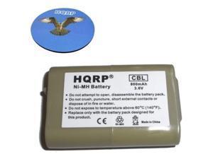 HQRP 800mAh Cordless Phone Battery plus HQRP Coaster