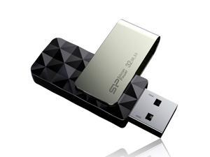 Silicon Power Blaze B30 32GB 90/40 MB/s (read/write) USB 3.0 Swivel Flash Drive - Black