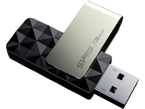 Silicon Power Blaze B30 128GB 200/80 MB/s (read/write) USB 3.0 Swivel Flash Drive Black