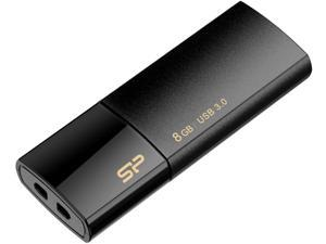 Silicon Power Blaze B05 8GB Retractable USB 3.0 Flash Drive - Black