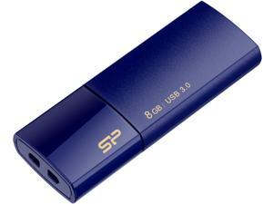 Silicon Power Blaze B05 8GB Retractable USB 3.0 Flash Drive - Deep Blue