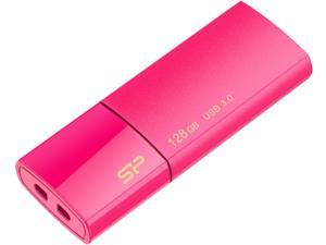 Silicon Power Blaze B05 128GB Retractable USB 3.0 Flash Drive Peach