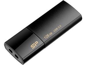 Silicon Power 128GB Blaze B05 USB 3.0 Retractable Flash Drive, Black