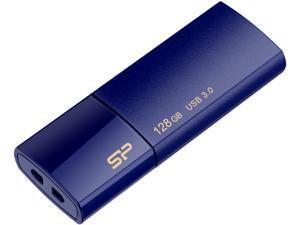 Silicon Power 128GB Blaze B05 USB 3.0 Retractable Flash Drive, Deep Blue