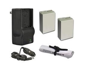Canon PowerShot SX50 HS High Capacity Batteries (2 Units) + AC/DC Travel Charger + Krusell Multidapt Neck Strap (Black Finish)