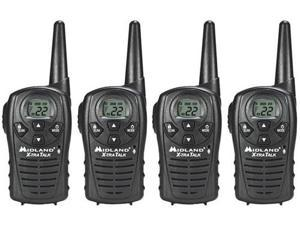 Midland LXT118VP (4 Pack) Two Way Radio Value Pack