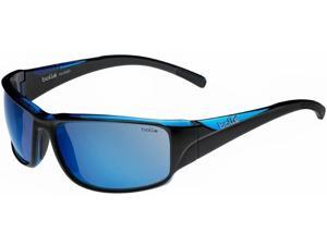 BOLLE KEELBACK SUNGLASSES (POL OFFSHORE BLUE OLEO AF LENS SHINY BLACK/BLUE)