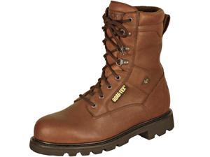 "Rocky Men's Original Ranger 8"" Brown Steel Toe Leather Boots 14 M"