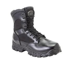 Rocky Men's Alpha Force 8 Black Waterproof Side Zip Leather Boots 4.5 M