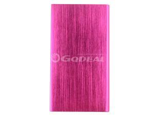Rose Red 8000mah Power bank Universal Portable Emergency Charger With Dual Micro USB Output