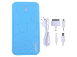 20000mah Turtle Sky Blue Portable Power Bank Battery Emergency Charger With Dual Micro USB Output For Apple iPhone 4 4S 4G ...