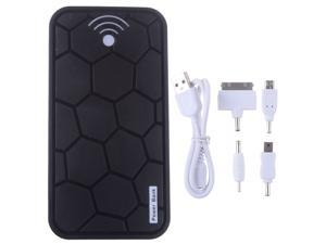 20000mah Turtle Black  Portable Power Bank Battery Emergency Charger With Dual Micro USB Output For Apple iPhone 4 4S 4G ...