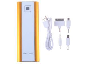 Slim 18000mah Diamond Gold Universal Portable Power Bank Emergency Charger With Dual Micro USB Output