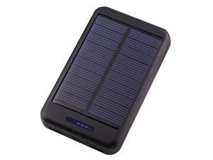 Solar Power Panel 10000mAh Black Portable Power Bank Pack Indicator light External Battery Charger With Dual Micro USB Output ...