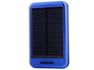 Solar Power Panel 10000mAh Blue Portable Power Bank Pack Indicator light External Battery Charger With Dual Micro USB Output ...
