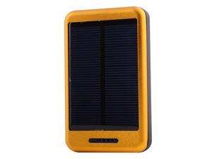 Solar Power Panel 10000mAh Gold Portable Power Bank Pack Indicator light External Battery Charger With Dual Micro USB Output ...