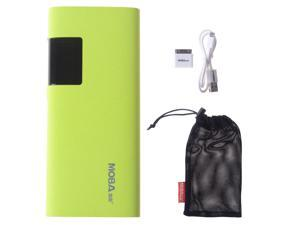 Slim 11000mah Green Portable LCD Display Power Bank Pack  External Battery Charger With Dual Micro USB Output For Apple iPhone ...