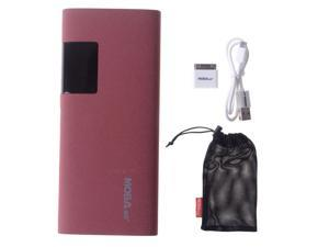 Slim 11000mah Red Portable LCD Display Power Bank Pack  External Battery Charger With Dual Micro USB Output For Apple iPhone ...