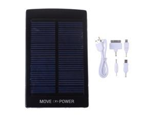 Solar Black 30000mah Portable Power Bank Pack External Battery Charger With Dual Micro USB Output For iPhone 4 4S 5 5S iPad ...