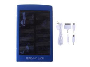 Solar Blue 30000mah Portable Power Bank Pack External Battery Charger With Dual Micro USB Output For iPhone 4 4S 5 5S iPad ...