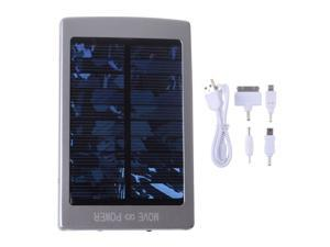 Solar Silver 30000mah Portable Power Bank Pack External Battery Charger With Dual Micro USB Output For iPhone 4 4S 5 5S iPad ...