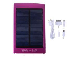 Solar Rose Red 30000mah Portable Power Bank Pack External Battery Charger With Dual Micro USB Output For iPhone 4 4S 5 5S ...