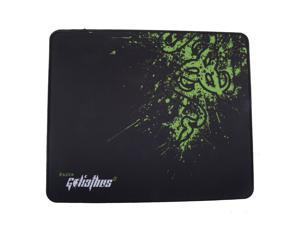 Black Game Mouse Pad PC Computer Laptop Gaming Mice Play Mat Mousepad Fabric + Rubber Material