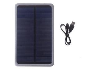 Silver Solar 4000mAh Portable Power Bank Pack External  Charger Batteries