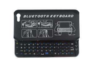 New Black Ultrathin Mini Bluetooth Keyboard Backlight Sliding Wireless Keyboards For Apple iPhone 5 5s
