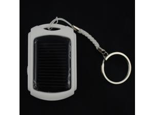 Solar Portable White Power Bank Pack 500mAh With LED Light External Backup Battery Charger For iPhone 4 4S 5 5S iPad iPod ...