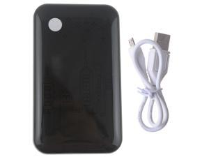Black Happy Face 9000mAh Power Bank Pack (Three USB Output) External Backup Battery Charger For Apple iPhone 4 4s 5 5s Tablet ...