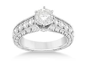 Vintage Diamond Engagement Ring Setting Platinum (1.05ct)
